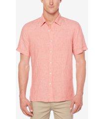 perry ellis men's chambray linen shirt
