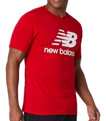 t-shirt korte mouw new balance essentials stacked logo tee