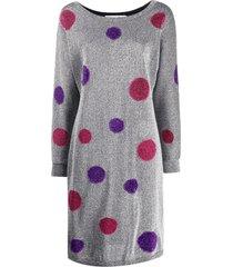 christian dior 2000s pre-owned polka dot lurex dress - metallic