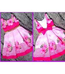 vestido flores patatitas i38 rosado