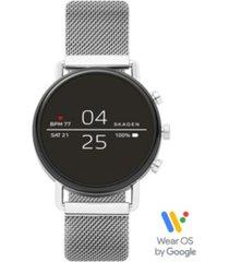 skagen falster 2 stainless steel mesh bracelet touchscreen smart watch 40mm, powered by wear os by google