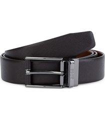 boss hugo boss men's felix leather belt - dark brown