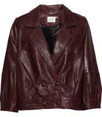 betzygz jacket ao19 läderjacka skinnjacka röd gestuz
