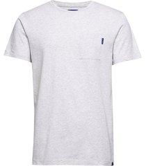 ams blauw classic pocket tee t-shirts short-sleeved grå scotch & soda