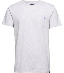 ams blauw classic pocket tee t-shirts short-sleeved grå scotch & soda