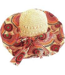 chapéu artestore praia aba larga floral feminino