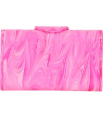 bright pink mini lara clutch