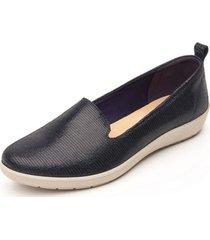 zapato mujer amelie azulmarino flexi