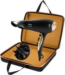 secador de cabelo philco golden star preto 110v com maleta
