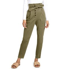 a.l.c. women's krew high-waisted tie-waist pants - oregano - size 6