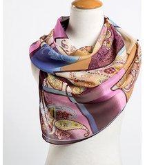 sciarpe di seta delle donne sciarpe di chiffon stampa geometrica sciarpe di poliestere lunghe sottili foulard donne