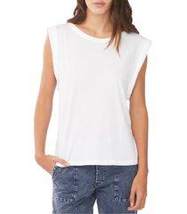 women's sundays elise roll sleeve t-shirt, size 2 - white