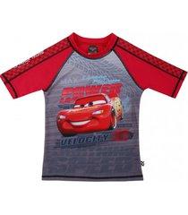 polera traje de baño uv50 rojo cars