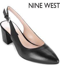 tacón bajo para mujer nine west tulip- negro