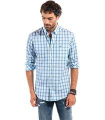 camisa a cuadro wilson azul ferouch
