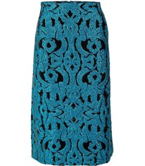salby embroidered sequin skirt