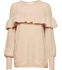 finula ruffle pullover knit gebreide trui roze inwear