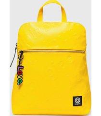 mochila free amarillo desigual
