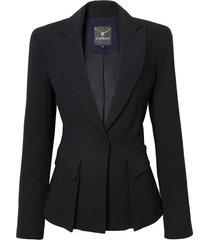 blazer le lis blanc carine detalhe faixa 2 alfaiataria preto feminino (preto/dark blue, 50)