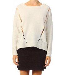trui vero moda parma new ls oversize blouse 10119636 blanc