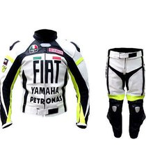 new men multicolor motorcycle racing leather suit jacket pants for yamaha