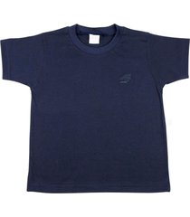 camiseta ano zero meia manga básica marinho
