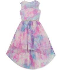 rare editions big girls tie-dye high-low dress