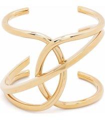 alberta ferretti gold-tone curved metal bracelet
