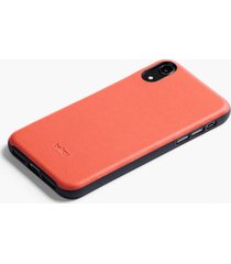 bellroy iphone xs max leather phone case - coral pcya-cor-107