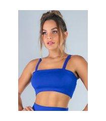 top mvb modas faixa com alça suplex azul