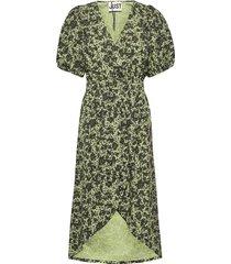 alicia dress knälång klänning grön just female