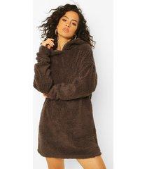 fleece oversized teddy hoodie, grey