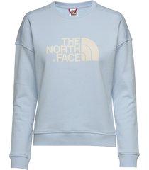 w drew peak crew-eu sweat-shirt tröja blå the north face