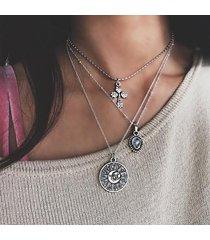 collana con pendente multistrato boehmian collana con pendente a goccia geometrica con nappe sole per donne