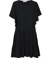 flowy dress korte jurk zwart odd molly