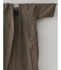 kimono morgonrock i linne