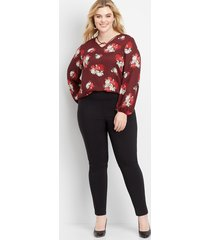 maurices plus size womens pull on bengaline skinny ankle pants