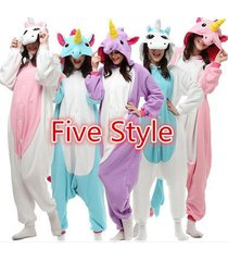 neue!!!five kinds style unicorn animal pajamas for man and woman cosplay party