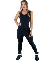 macacã£o mvb modas longo saia tapa bumbum suplex preto - preto - feminino - poliã©ster - dafiti
