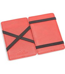 royce new york leather magic wallet - red