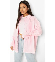 oversized blouse met mouwstrikjes, pastel pink