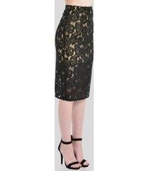 falda de encaje casual negro aishop