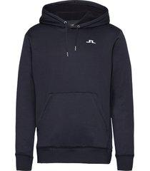stretch fleece hoody hoodie trui blauw j. lindeberg golf