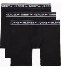 tommy hilfiger men's everyday modal boxer brief 3pk black - xl