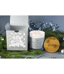 świeca w pudełku z personalizacją na prezent