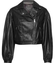 daryl jacket läderjacka skinnjacka svart guess jeans