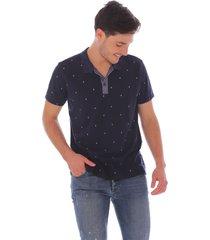 camiseta tipo polo mini print para hombre x59099