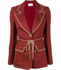 peter pilotto single breasted blazer - red
