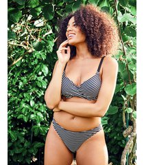 tailor underwire non pad wrap stripe bikini top d-gg