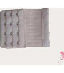 op en top zwanger beha verlenger 4 haaks met elastiek huidkleur